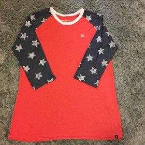Hurley USA baseball style t-shirt